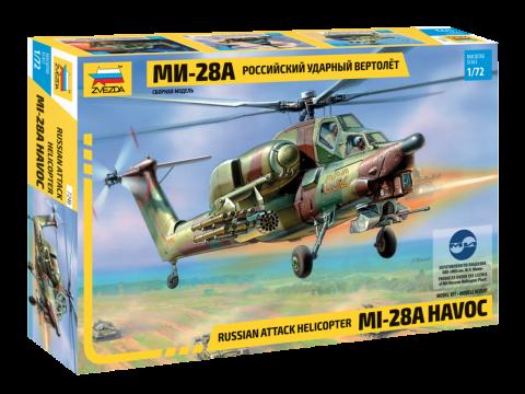 Ударный вертолёт Ми-28А сборная модель. 1/72 ZVEZDA 7246