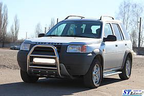 Кенгурятник QT007 (нерж.) Land Rover Freelander I