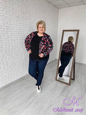 Кожаная женская куртка большого размера (р. 48-90) арт. Осень, фото 2
