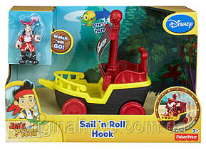 Парусник и капитан Крюк - Джейк и пираты Нетландии Disney - Fisher Price BGM31