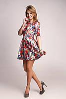Платье женское очаровательное платьице в ярких и насыщенных расцветках