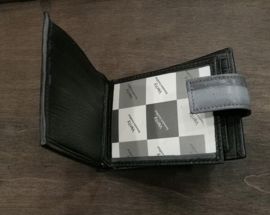 1b818ebfa17b Купить Мужской кошелек из натуральной кожи, серый в Одессе от ...