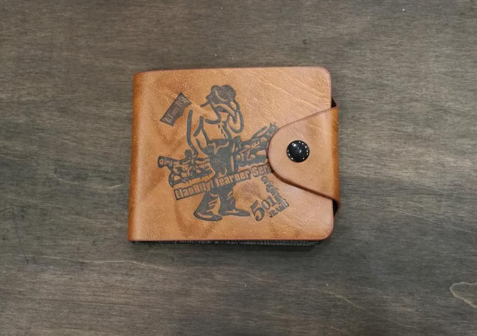 Мужской кошелек с рисунком