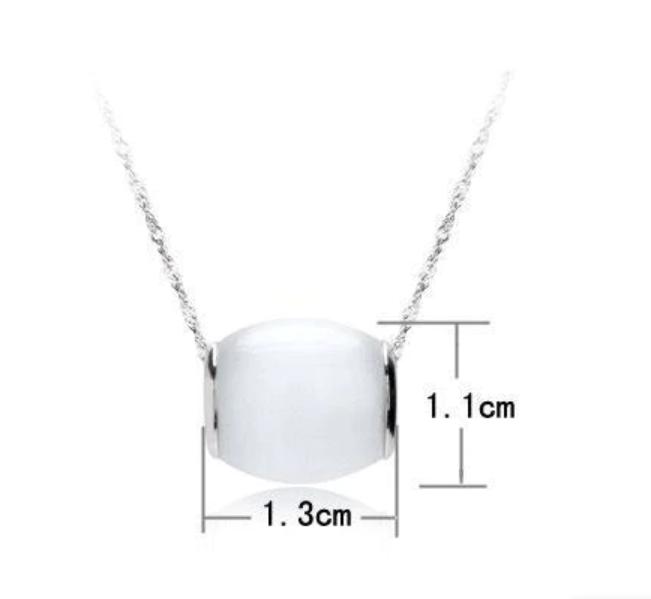 Серебряный кулон с белым камнем опал стерлинговое серебро 925 проба , фото 1