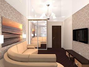 Натяжные потолки гостинная. 1