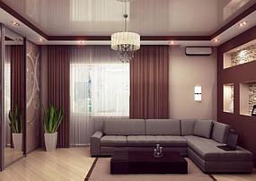 Натяжные потолки гостинная. 2