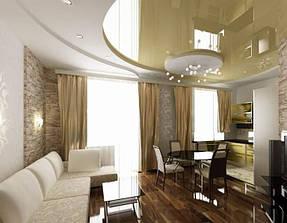 Натяжные потолки гостинная. 4