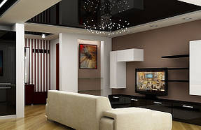Натяжные потолки гостинная. 5