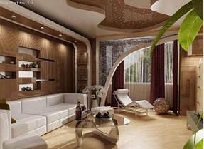 Натяжные потолки гостинная. 9