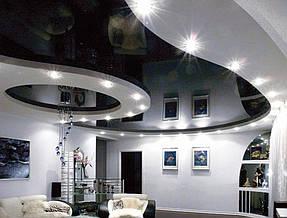 Натяжные потолки гостинная. 10