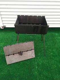 Мангал-чемодан на 6 шампуров складной-3мм ( компактный, небольшой)ВЕЕР В ПОДАРОК