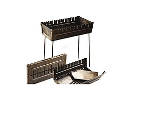 Мангал-чемодан на 12 шампуров складной-2 мм, двухуровневый ( для большой компании) ВЕЕР В ПОДАРОК