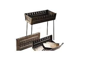 Мангал-чемодан на 10 шампуров складной-2 мм, ( Двухуровневый, удобный)ВЕЕР В ПОДАРОК