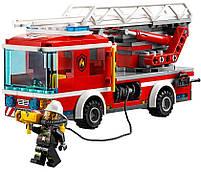 Lego City Пожарный автомобиль с лестницей 60107, фото 4