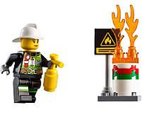 Lego City Пожарный автомобиль с лестницей 60107, фото 6