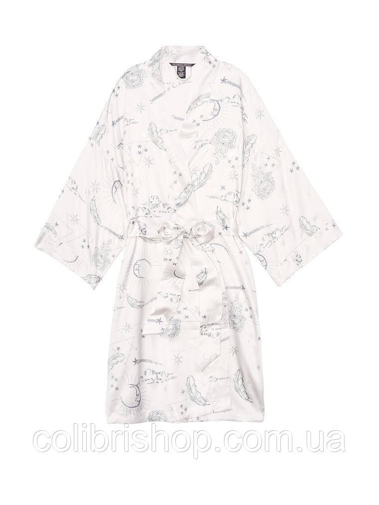 751ed3327925fbc Шелковый халат-рубашка в стиле кимоно Short Satin Kimono от Victoria's  Secret , фото 2 ...