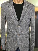 Стильний-молодіжний чоловічий піджак Emilio Sagezza в клітинку.Туреччина.