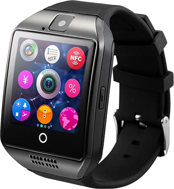 Умные смарт-часы (Smart Watch) UWatch Q18 Black Original