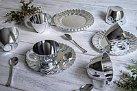 Чайно-кофейный набор Capital For People стеклопластик для пикника. Полная сервировка стола.  6 шт 130 мл, фото 1