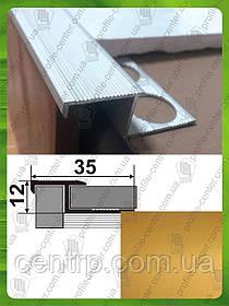 Z - образный профиль под плитку 8-9мм. ПЛ 210. Золото (краш)