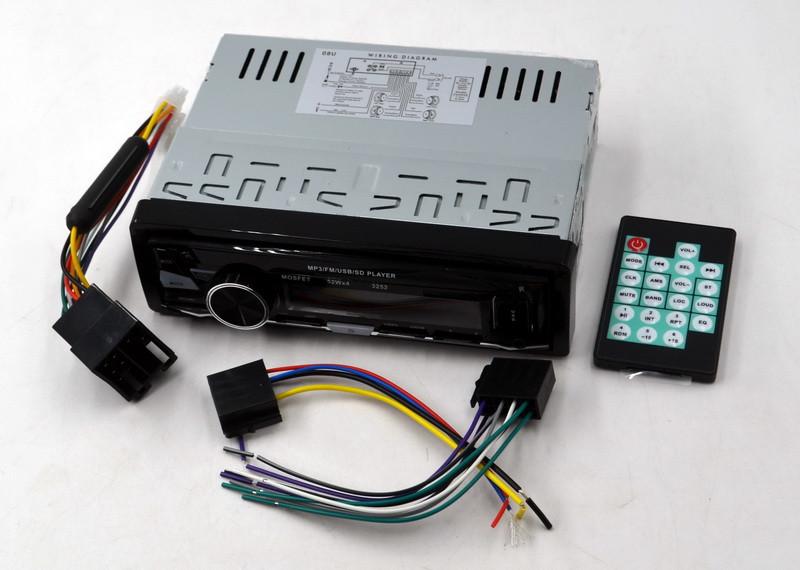 Автомагнітола Bluetooth 3252 Пульт ДУ потужність 52x4 Вт і знімною панеллю в машину бюджетна
