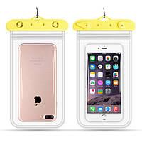 Водонепроницаемый чехол для смартфона Flounder Waterproof желтый, фото 1