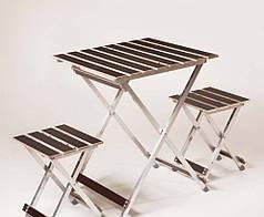 "Комплект Vitan ""ALUWOOD малый"" Стол малый + 2 стула 6230"