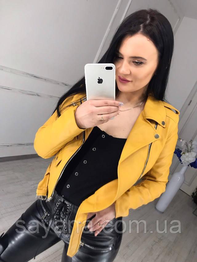 женская куртка-косуха в модном принте опт