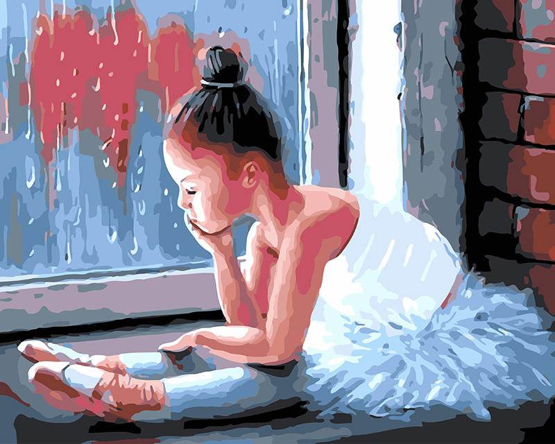 Картина по Номерам 40x50 см. Маленькая балерина