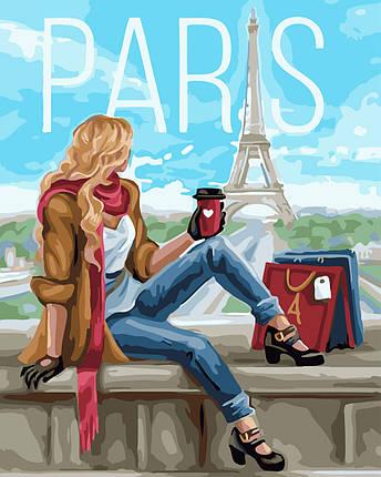 Картина по Номерам 40x50 см. Шопинг в Париже, фото 2