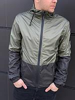 Куртка мужская весенняя / летняя легкая ветровка / хаки