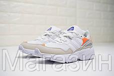 Женские кроссовки adidas Yung-96 Beige/White/Orange Адидас Янг 96 белые с бежевым, фото 2