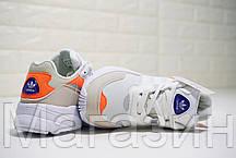 Женские кроссовки adidas Yung-96 Beige/White/Orange Адидас Янг 96 белые с бежевым, фото 3