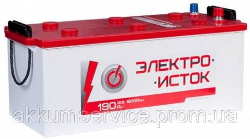 Аккумулятор автомобильный Электроисток 190AH R+ 1200А
