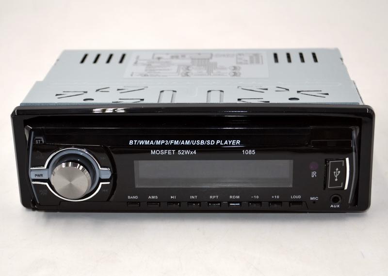Автомагнитола 1085 Bluetooth Пульт ДУ мощность 52x4 Вт съёмной панель в машину бюджетная