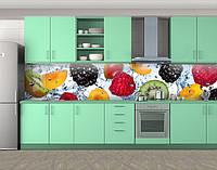 Кухонный фартук Свежие, спелые фрукты (Виниловая пленка для скинали на кухню)Самоклейка 60 х 300 см.