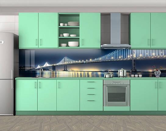 Самоклеящаяся стеновая панель для кухни, 60 х 300 см. С защитной ламинацией, фото 2