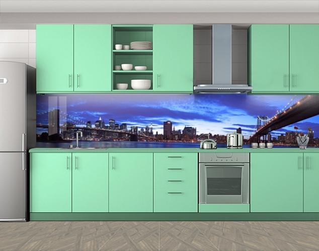 Кухонный фартук с фотопечатью, 60 х 300 см. С защитной ламинацией