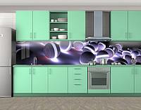 Кухонный фартук абстракция шары с подсветкой (Самоклейка виниловая пленка скинали для кухни) 60 х 300 см.