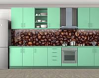 Кухонный фартук Кофейные зерна(Наклейка виниловая пленка для скинали на кухню) Самоклейка 60 х 300 см.
