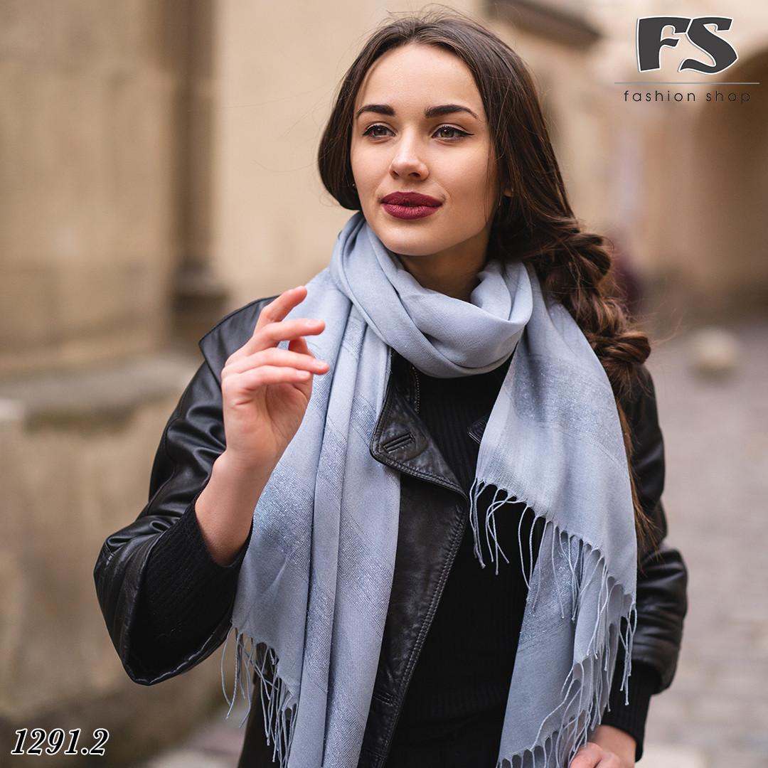 Весняний сірий легкий шарф Дана