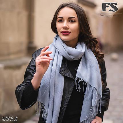 Весняний сірий легкий шарф Дана, фото 2