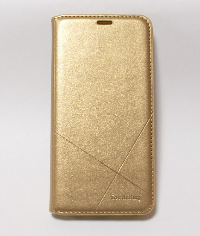 Чехол-книжка для смартфона Huawei P Smart Plus золотая MKA