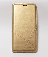Чехол-книжка для смартфона Huawei P Smart Plus золотая MKA, фото 1
