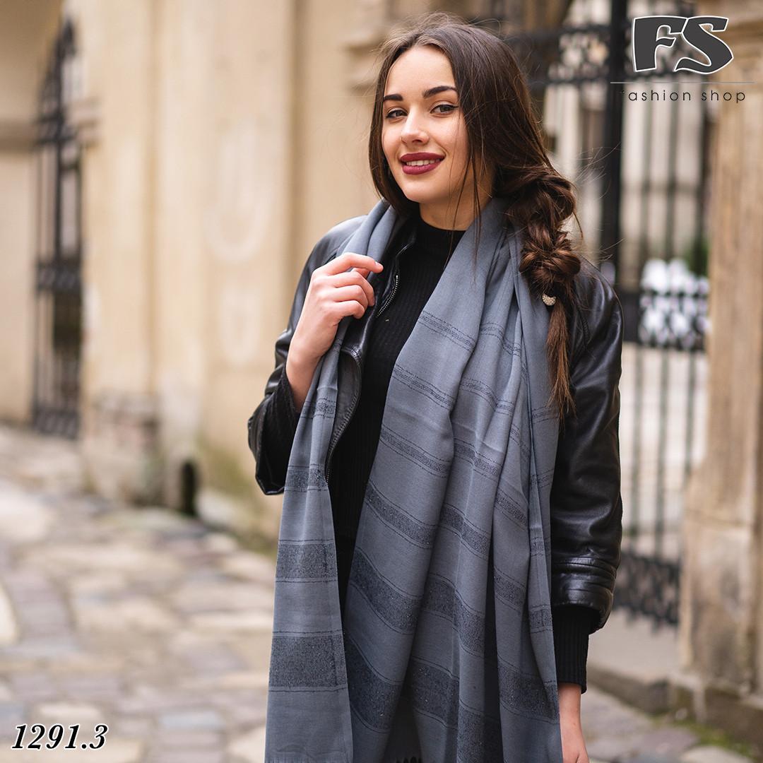 Весняний темно-сірий  легкий шарф Дана