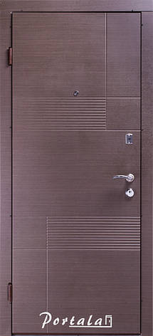 Двери квартирные, серия Элегант, модель Калифорния, гнутый профиль, 2 контура уплотнения, 2 замка, фото 2