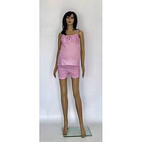 Пижама для кормящих и беременных женщин из хлопка с шортами розового цвета Аля 44-50 р