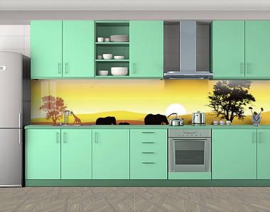 Фотопечать кухонного фартука на самоклейке, 60 х 300 см. С защитной ламинацией