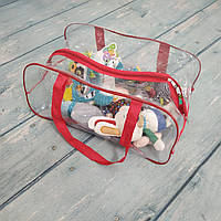 Прозрачная сумка в роддом/хранения игрушек, одеял