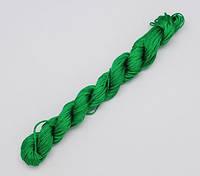 Капроновый шнур для плетения зелёный 1677